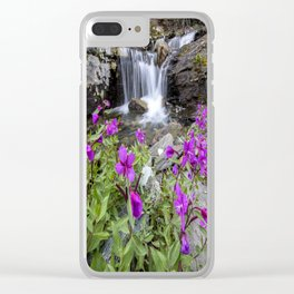 Secluded Waterfall Clear iPhone Case