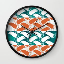 Foxhatched Wall Clock