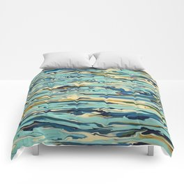 Abstract Oceanic Force Comforters
