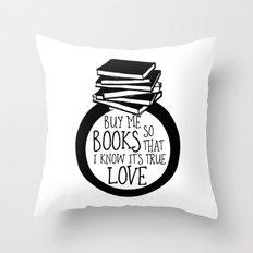 Bookish Engagment Throw Pillow
