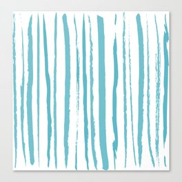 blue streaky pattern Canvas Print