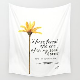 Song of Solomon 3:4 - yellow daisy Wall Tapestry