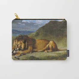 Eugene Delacroix - Lion Devouring A Goat - Digital Remastered Edition Carry-All Pouch
