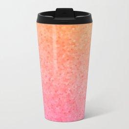 Sea Glass ~ Coral Metal Travel Mug