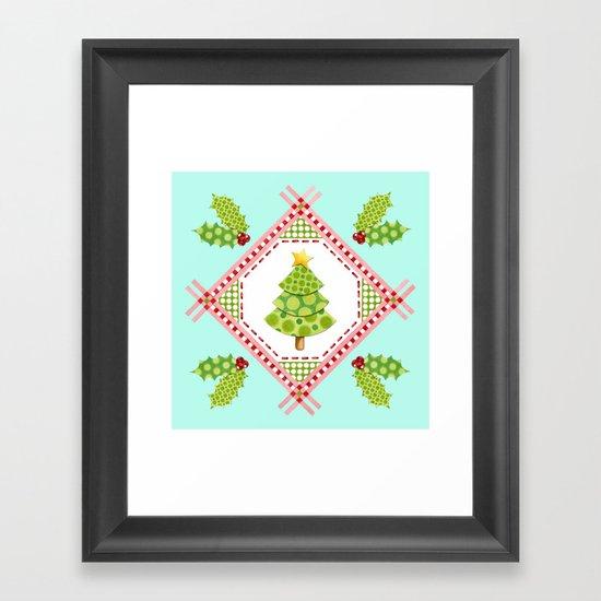 Holiday Polka Dots Framed Art Print