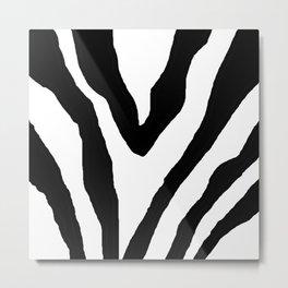 Zebra ZZ Metal Print