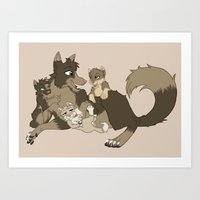 Daddy time Art Print