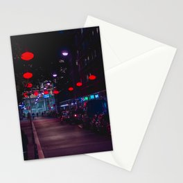 Chinatown | Night Collection | Red lanterns | Travel Photography Stationery Cards