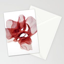 Red tape flower 3 Stationery Cards
