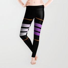 TEAM COLORS 5....Orange,purple Leggings