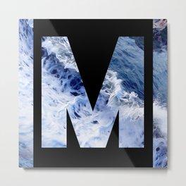 Monogram M Metal Print