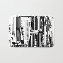 Abstract City #2 Bath Mat