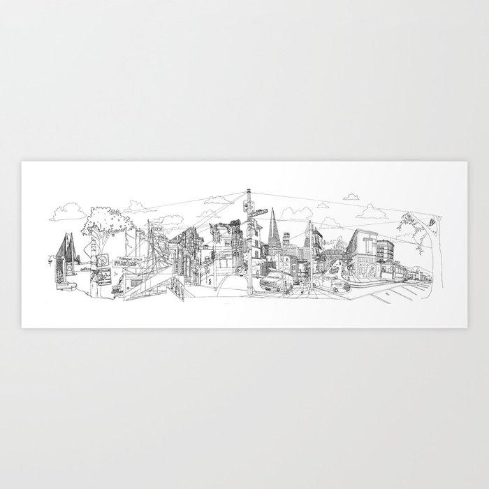 San Francisco! (Landscape) Art Print