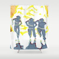 heroes Shower Curtains featuring Heroes by SquidInkDesigns