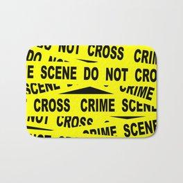 Crime Scene Tape Bath Mat