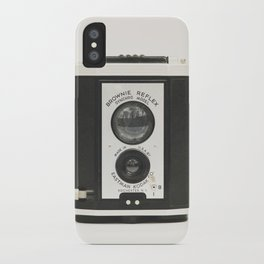 Brownie Reflex Camera Photography, Old Vintage Camera iPhone Case