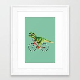 T-REX BIKE Framed Art Print