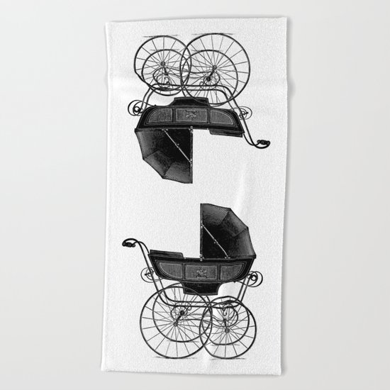 Baby carriage Beach Towel