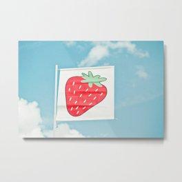 Strawberry Sky Metal Print