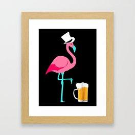 Flamingo Party Framed Art Print