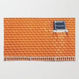 Tiled Roof After Summer Rain Rug