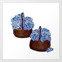 Two Baskets of Hydrangea Love Art Print
