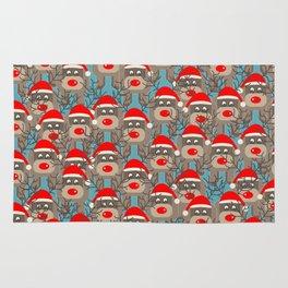 Santa Reindeers Rug
