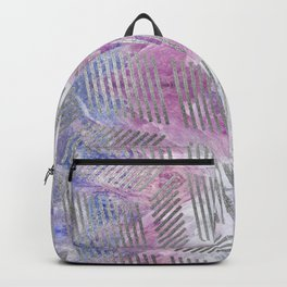 Silver pattern on Charoite mineral texture Backpack