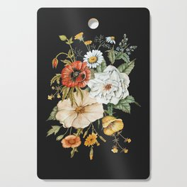 Wildflower Bouquet on Charcoal Cutting Board