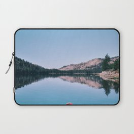 Red Canoe on the Lake (Color) Laptop Sleeve