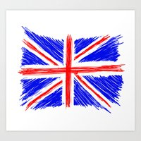 flag Art Prints featuring Flag by Svetlana Sewell