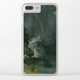 James Abbott McNeill Whistler - Nocturne in Black and Gold Clear iPhone Case