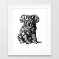 koala Framed Art Prints featuring Koala by BIOWORKZ