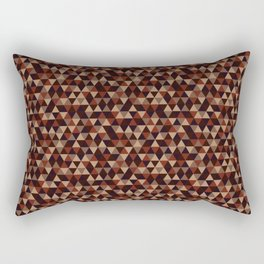 Colorful Triangles Pattern 2 Rectangular Pillow