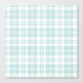 Cozy Plaid in Mint Canvas Print