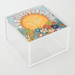 The language of light Acrylic Box