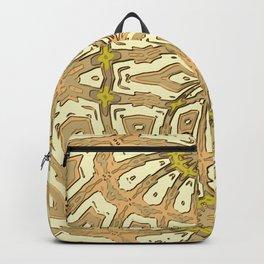 Retro Vintage Mustard Yellow Daisy Backpack