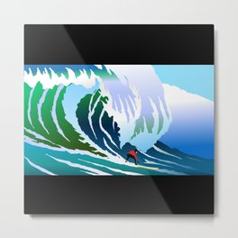 Big Surfer Metal Print