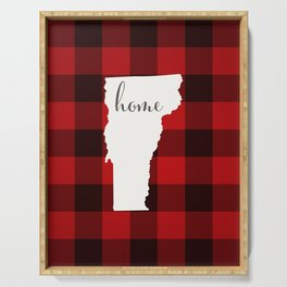 Vermont is Home - Buffalo Check Plaid Serving Tray