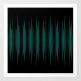 Linear Emerald Black Art Print