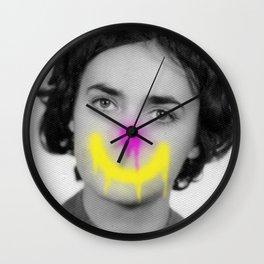Clowning Into Sadness Wall Clock