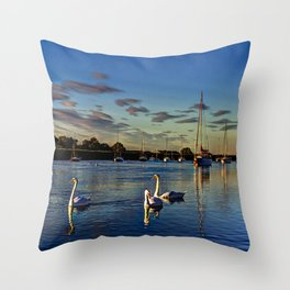 Swan River Throw Pillow