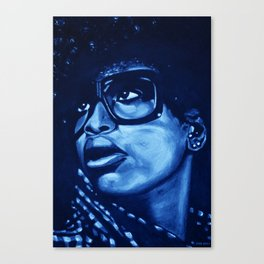 badu?!-blue Canvas Print
