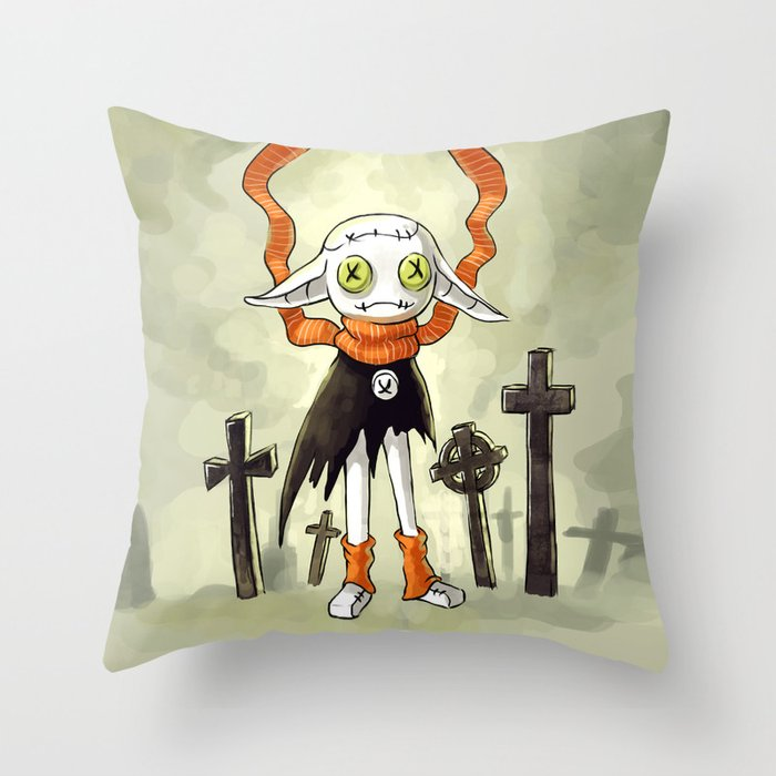 Rag Doll 2 Throw Pillow