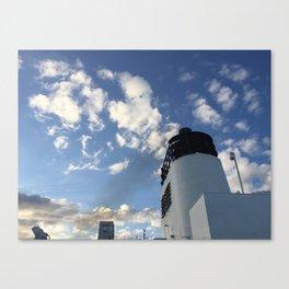 Boat Smoke Stack Canvas Print