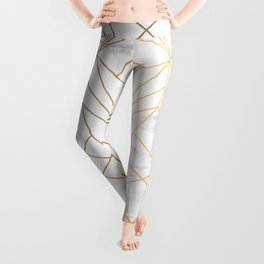 Marble, Geometry and Gold Leggings
