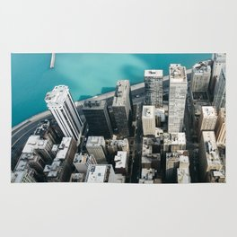 Chicago From Above Rug