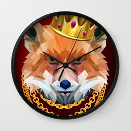 The King of Foxes Wall Clock