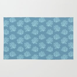 Sea Coral in Blue Rug