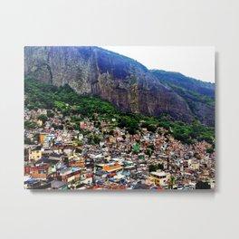Favela Rocinha, Rio de Janeiro Brasil Metal Print